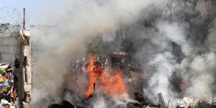 İsrail savaş uçakları Gazze Şeridi'ni vurmaya başladı