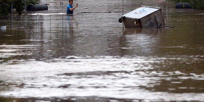 Beykoz'da sel ve yıldırım