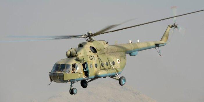 Afganistan'da askeri helikopter düştü