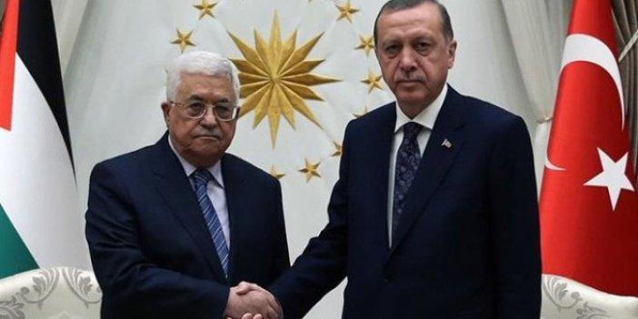 Erdoğan ve Abbas telefonda görüştü