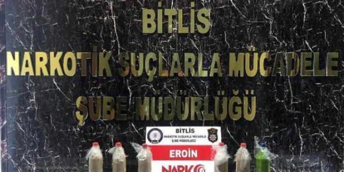 Bitlis'te 11 kilo eroin ele geçirildi
