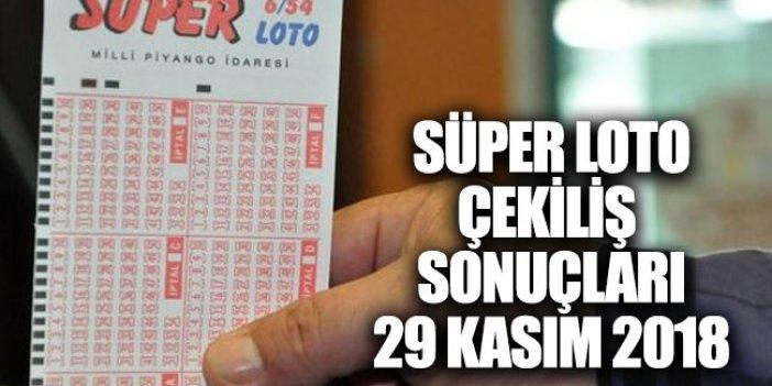 Süper Loto çekiliş sonuçları MPİ 29 Kasım 2018