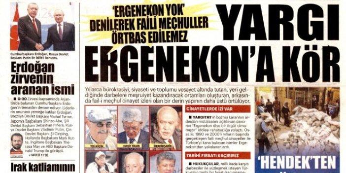 Yeni Akit Ergenekon kumpasına sahip çıkmaya devam ediyor
