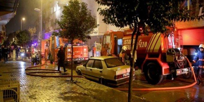 Zeytinburnu'nda çocuk giyim mağazasında yangın