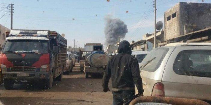 Afrin'de pazar yerine bombalı saldırı