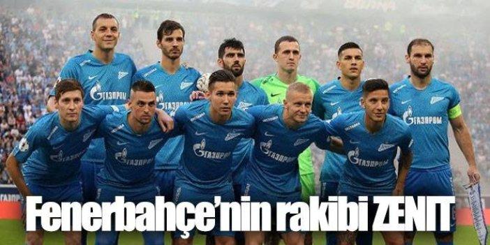 Fenerbahçe'nin rakibi Zenit hakkında bilgiler