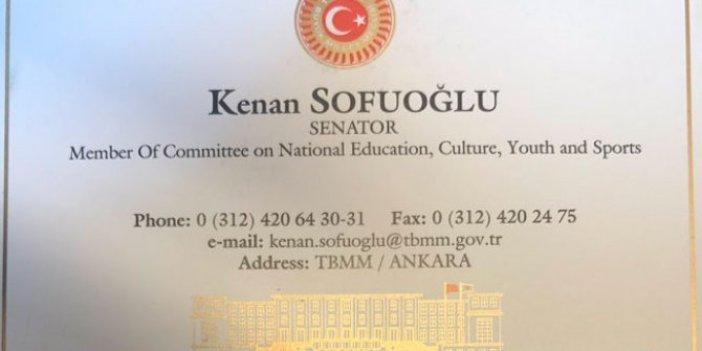 """""""Kenan Sofuoğlu kendini senatör sanıyor"""""""