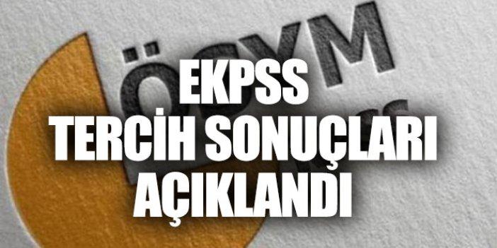 EKPSS tercih sonuçları açıklandı