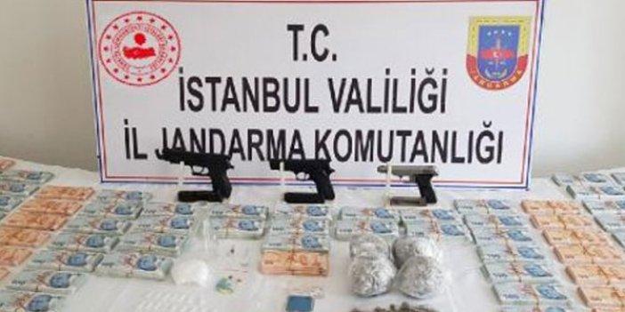 Jandarmadan sahte para ve uyuşturucu operasyonu