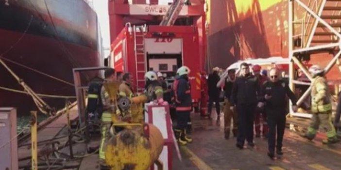 Tuzla tersanesinde yangın! 2 ölü 11 yaralı