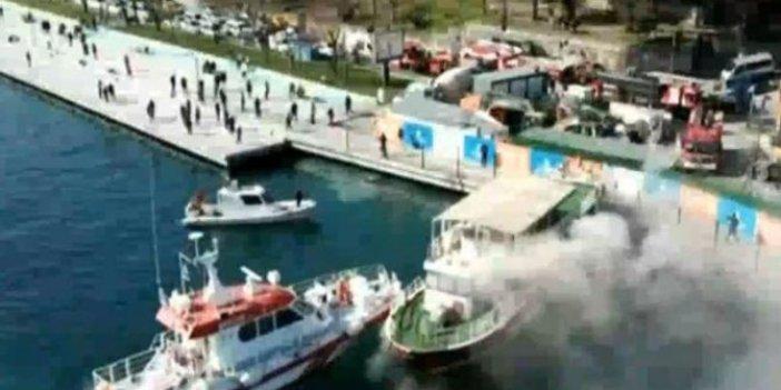 Sarıyer'de tekne yangını