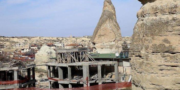 Kapadokya'da 15 bina daha yıkılıyor!