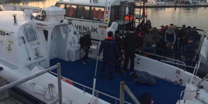 Çeşme'de 47 kaçak göçmen yakalandı!