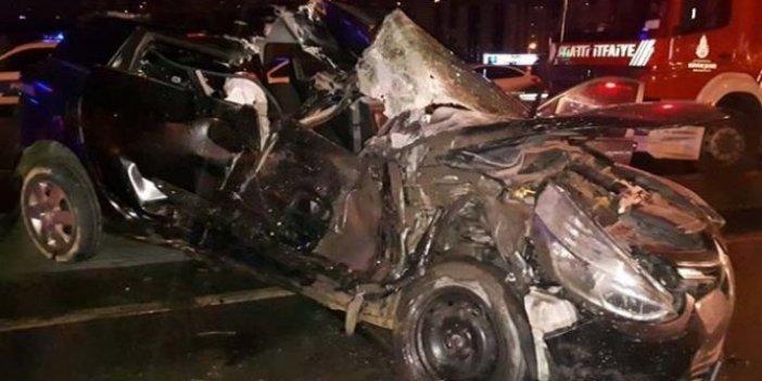 Beylikdüzü'nde feci kaza: 3 yaralı