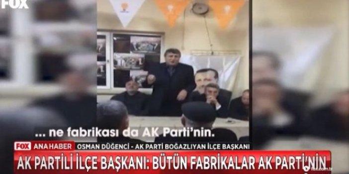 """""""Şeker fabrikası da AKP'nin, bilmem ne fabrikası da AKP'nin"""""""