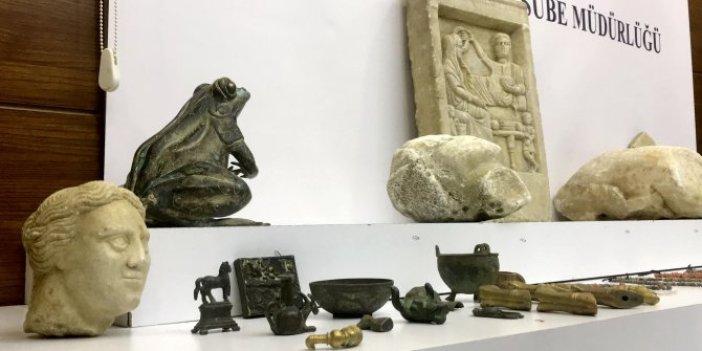 Bizans, Roma ve Helenistik döneme ait bin 239 parça tarihi eser ele geçirildi