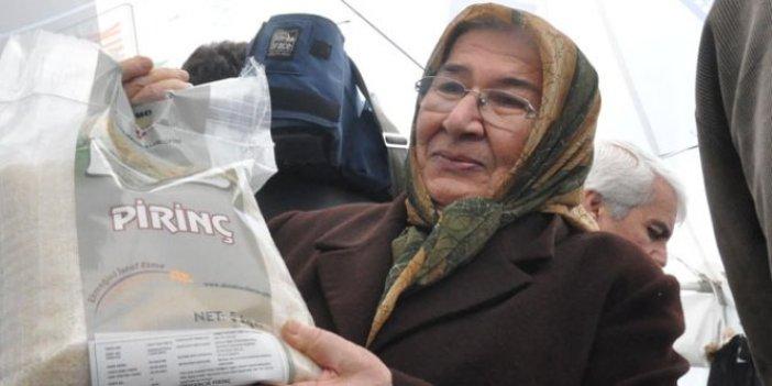 Başkent'te tanzim tezgahlarında pirinç satışı başladı