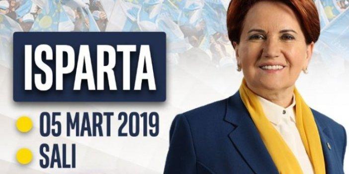 Meral Akşener Isparta'ya gidiyor