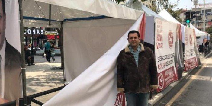 Manisa'da DP'li adayın seçim çadırına saldırı