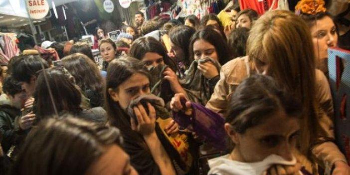 Polis İstiklal Caddesi'nde yürümek isteyen kadınlara izin vermedi