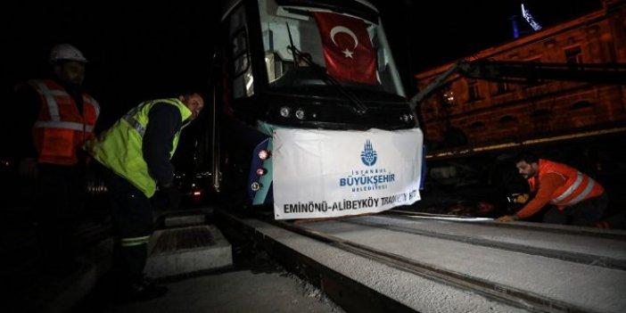 Eminönü-Alibeyköy hattı test sürüşüne başlıyor