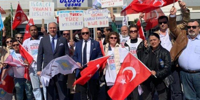 Yunan adalarına gitmiyoruz protestosu