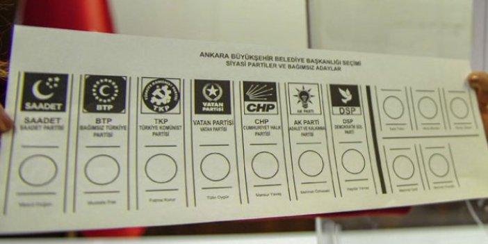İşte yerel seçimde kullanılacak oy pusulası!