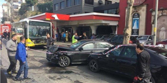İETT otobüsü ters yöne girdi:6 yaralı