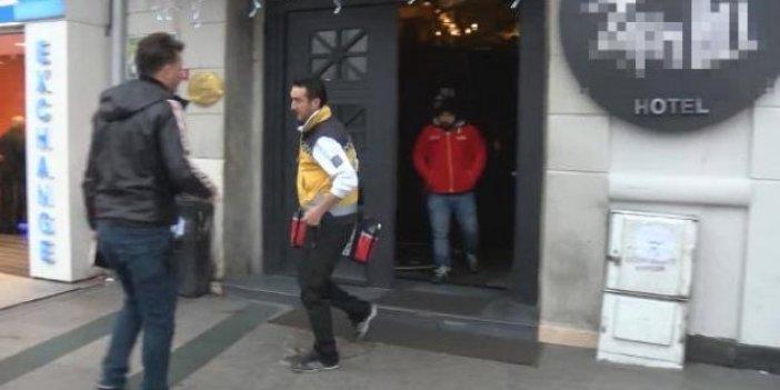 Taksim'de otelde korkunç olay! 1 ölü, 1 yaralı