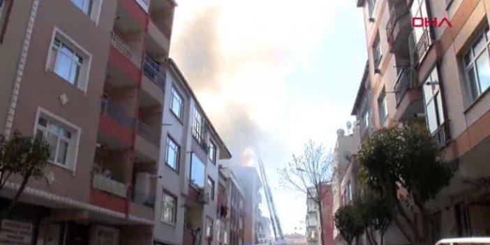 Güngören'de 5 katlı binada yangın