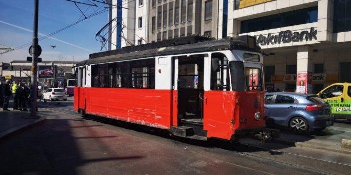 Kadıköy-Moda Tramvayı'nda arıza