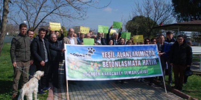 Bursa halkı yeşil parkları geri istiyor