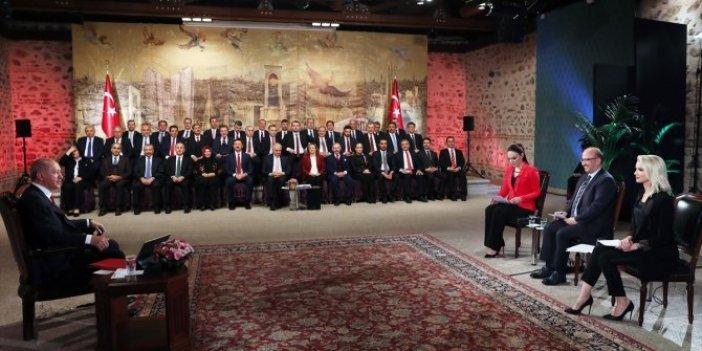 Erdoğan, tüm İstanbul adaylarını toplayıp TRT 1 canlı yayınına çıktı