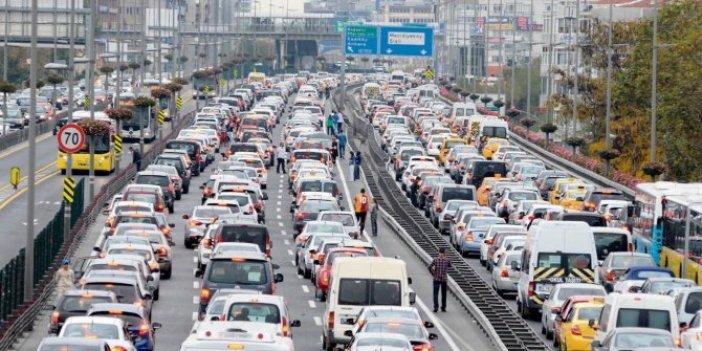 Trafiğe kayıtlı araç sayısı yüzde 49 azaldı