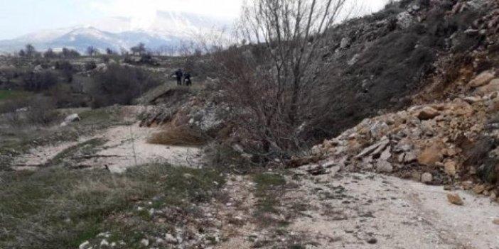 Isparta'da toprak kayması