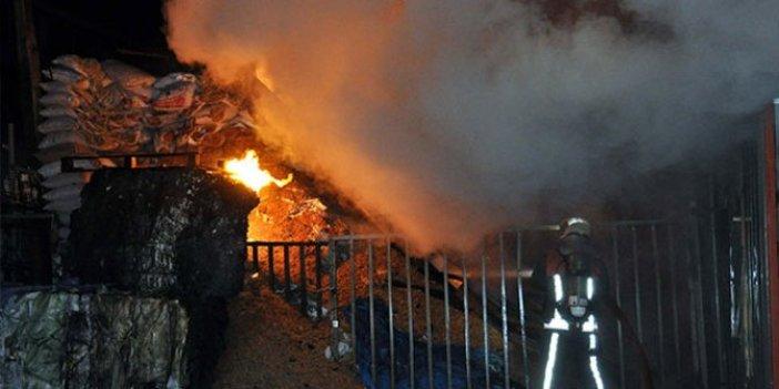 Başkent'te talaş deposunda yangın
