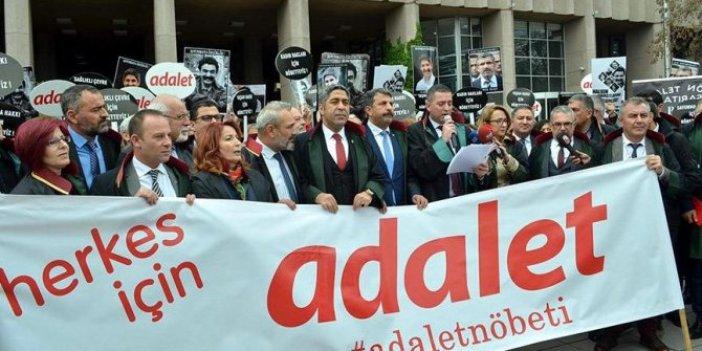 Ankara Barosu'ndan 'Adalet Nöbeti'