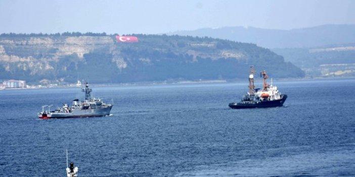 Rus mayın gemisi Çanakkale'den geçemedi!