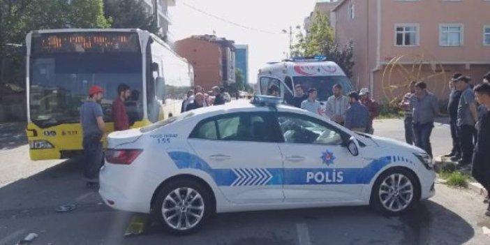 İETT otobüsü polis aracına çarptı!