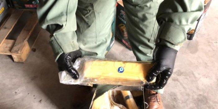Kargodaki aramada 163 kilo eroin bulundu