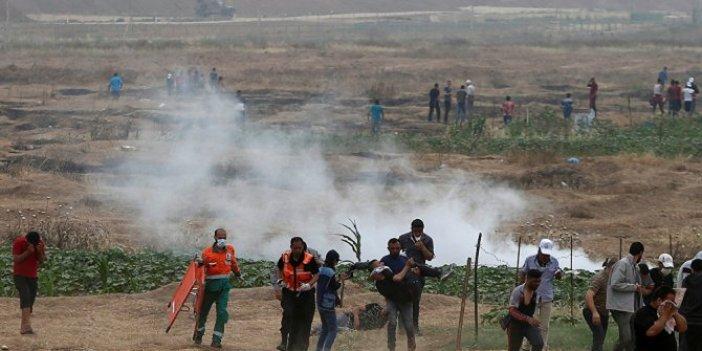 İsrail Gazze'de 30 Filistinli'yi yaraladı