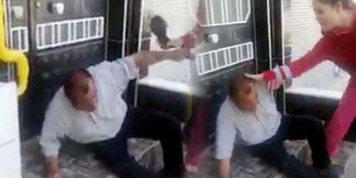Mahalle halkı tacizciyi dövdükten sonra polise teslim etti