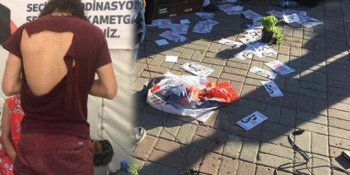 CHP'nin seçim çadırına saldırı
