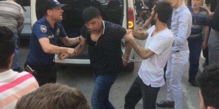 Kadına saldıran Suriyeliye meydan dayağı