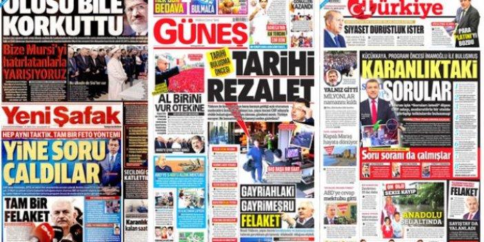 İşte Erdoğan'ın talimatıyla atılan manşetler