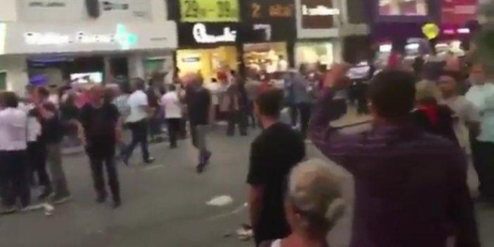 AKP'liler ile CHP'liler arasında gerginlik
