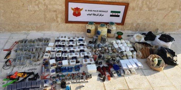 El Bab'da 1 ton patlayıcı ele geçirildi