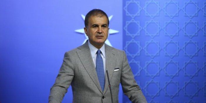 """Ömer Çelik """"Türkiye'nin göç krizi yoktur"""""""