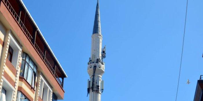 Avcılar'daki cami minaresi baz istasyonuna döndü
