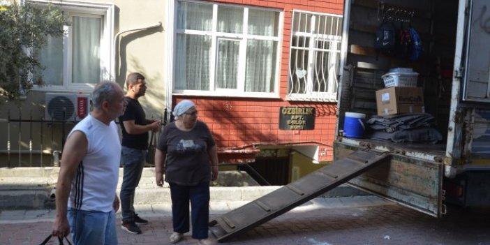 Avcılar'da mühürlenen bina tahliye ediliyor